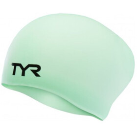 TYR Wrinkle-Free Long Hair Gorro de natación, mint